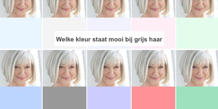 Welke kleuren kleding passen bij grijs haar?