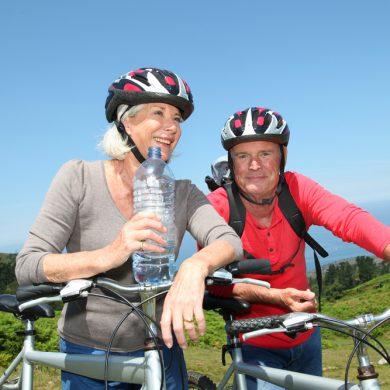 fietsen met helm