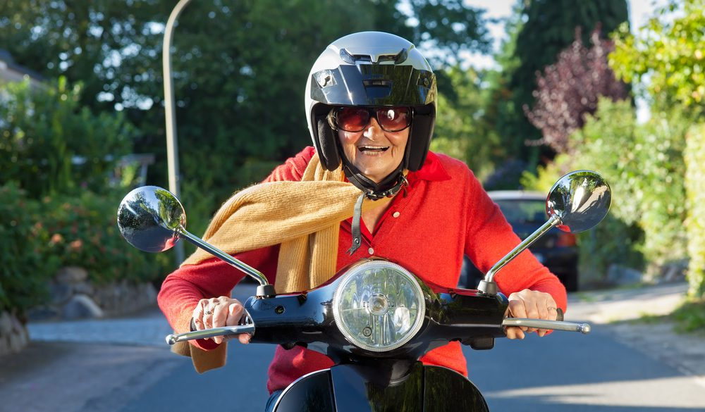 senior op scooter