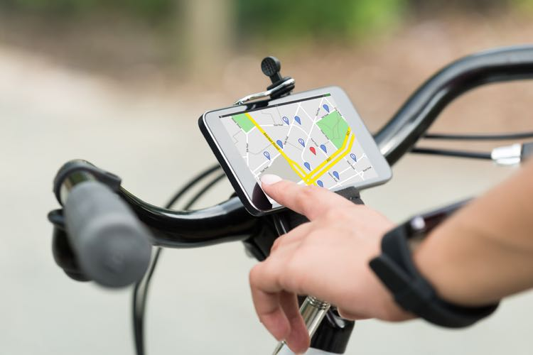 navigatie op de fiets